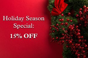 Holiday Season Special 15% off until November 30 at Heart of Nature Gallery